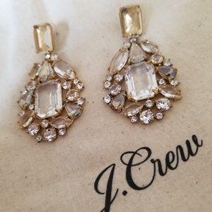 Cluster drop stone earrings